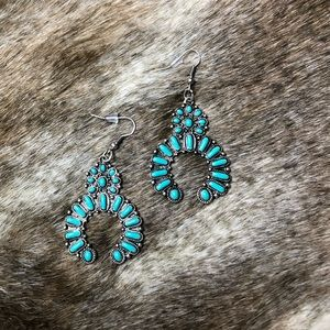 New Turquoise Arc Earrings